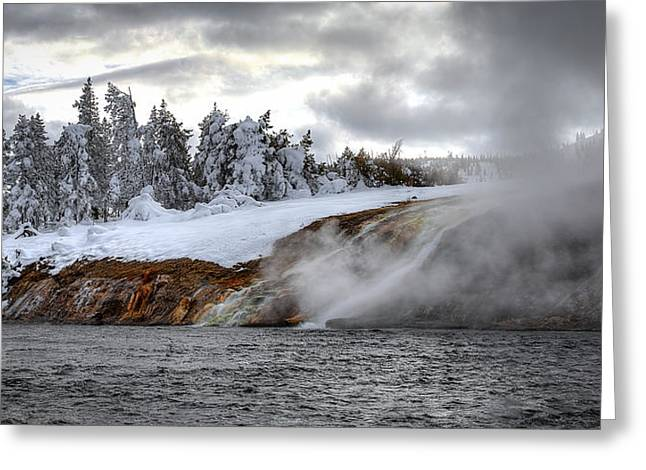 Yellowstone's Fire And Ice Greeting Card