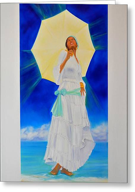 Yemaya II Greeting Card by KCatia Creole Art
