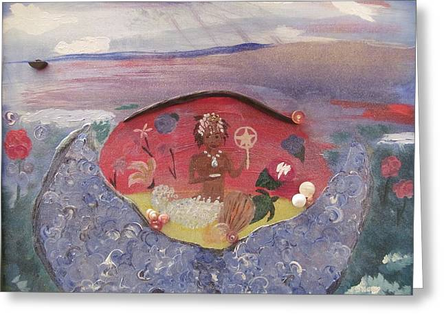 Yemanja Greeting Card by Susan Snow Voidets