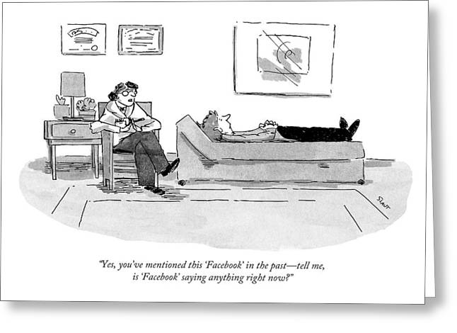 Yes, You've Mentioned This 'facebook' Greeting Card by Sara Lautman