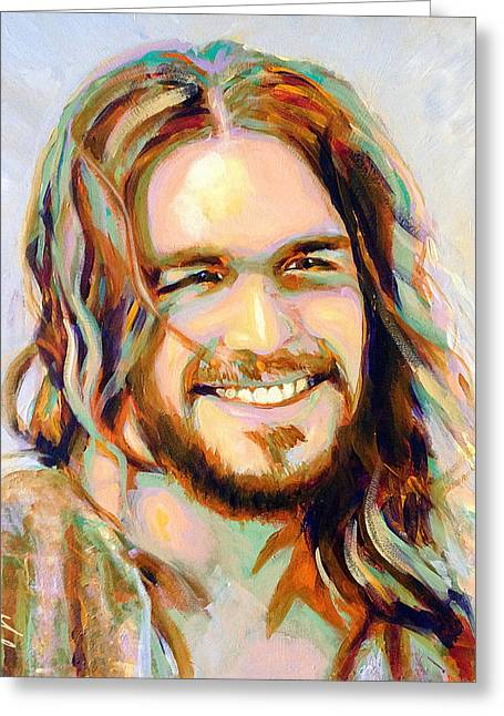 Yeshua Greeting Card by Steve Gamba
