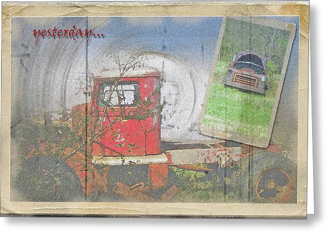 Greeting Card featuring the photograph Yesterday Trucks Postcard by Larry Bishop
