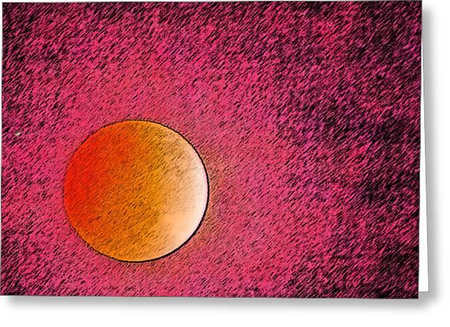 Yet Another Blood Moon Greeting Card by Carolina Liechtenstein