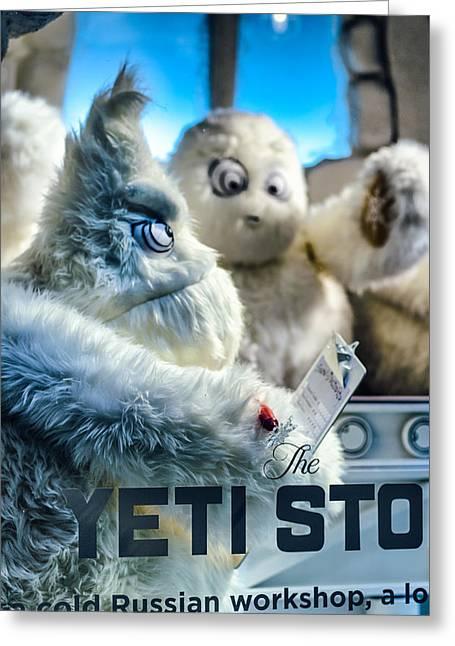 Yeti Store Greeting Card by Scott  Wyatt