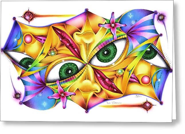 Yeux D'intervalle Greeting Card