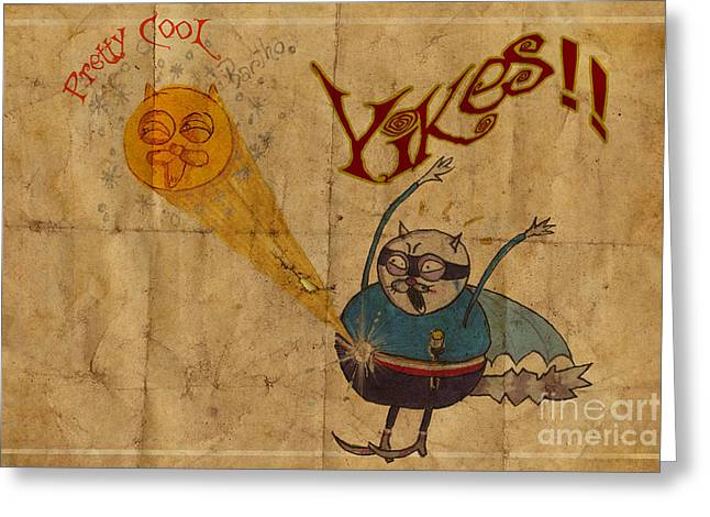 Yikes Greeting Card by Pedro Caignet