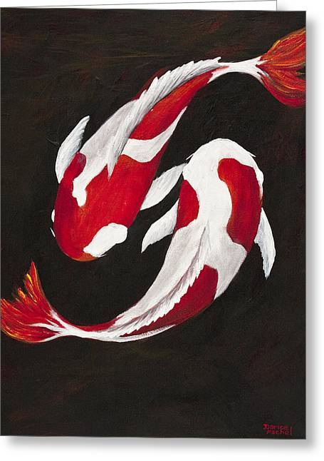 Yin And Yang Greeting Card by Darice Machel McGuire