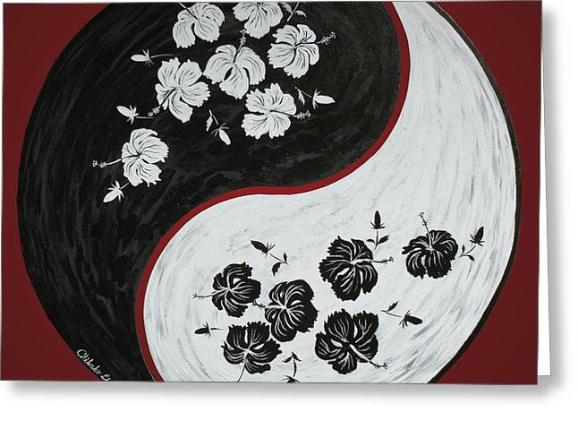 Yin And Yang Of Hibiscus  Greeting Card