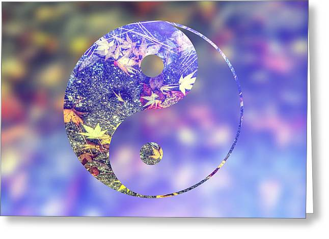 Yin And Yang Of The Earth Greeting Card