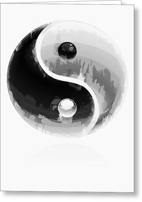Yin Yang 2 Greeting Card by Daniel Hagerman