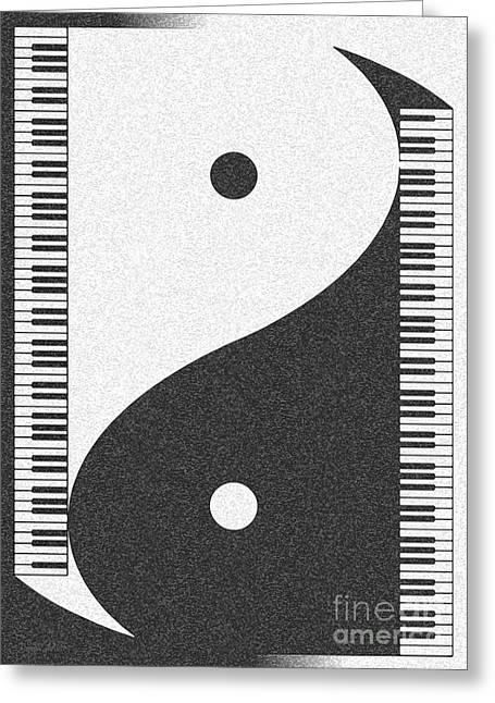 Yin Yang Grand Greeting Card by Cristophers Dream Artistry