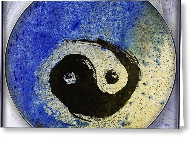 Yin Yang Painting Greeting Card by Peter v Quenter