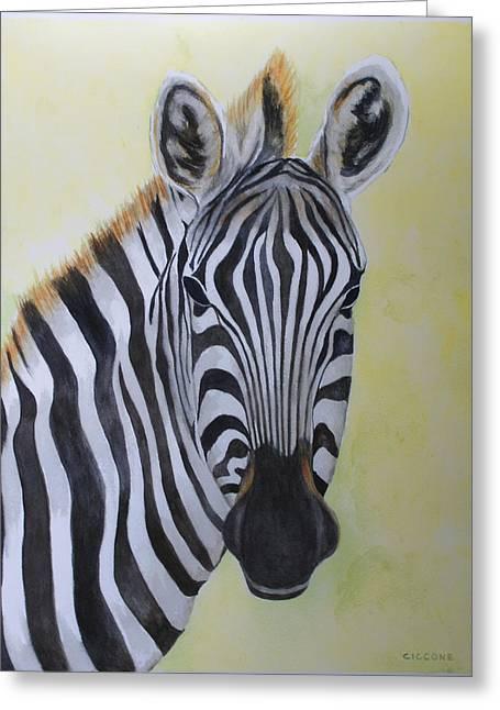 Yipes Stripes Greeting Card