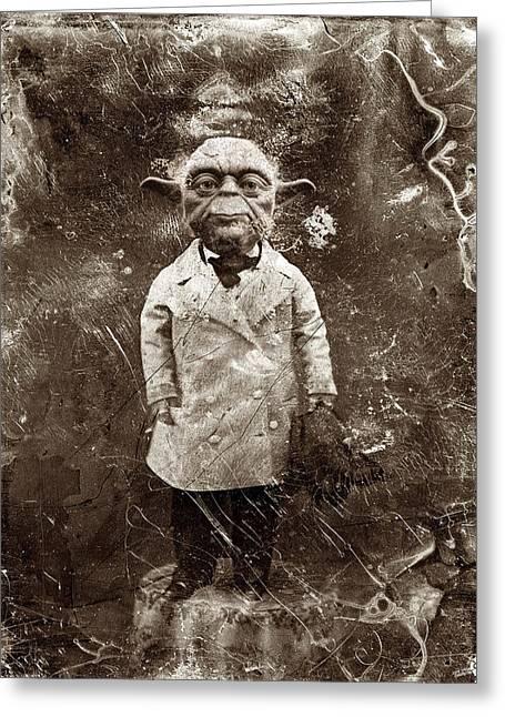Yoda Star Wars Antique Photo Greeting Card