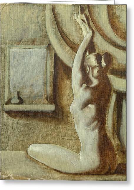 Yoga Girl Greeting Card by Luis  Navarro