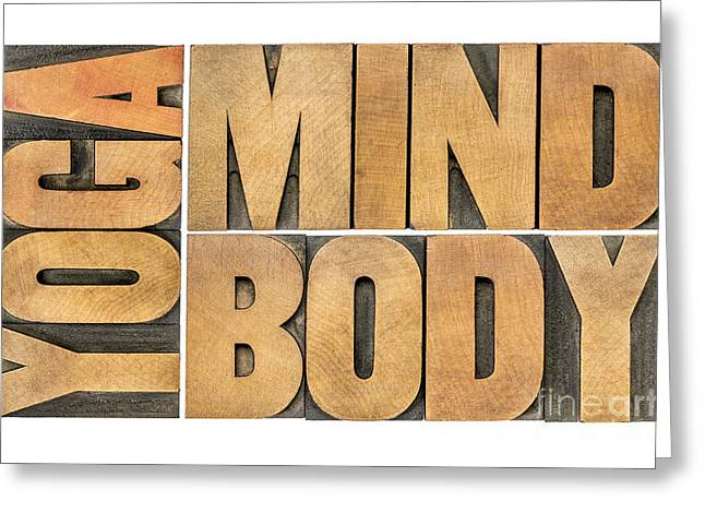 Yoga Mind And Body  Greeting Card