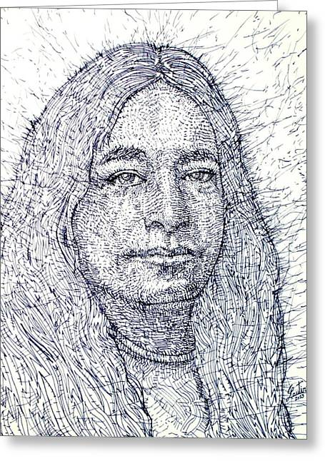 Yogananda - Pen Portrait Greeting Card