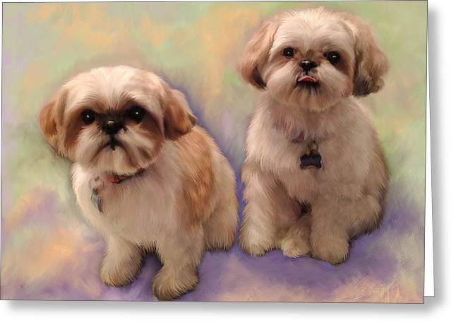 Yogi And Boo Boo Greeting Card