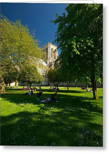 Greeting Card featuring the photograph York Minster by Stephen Taylor