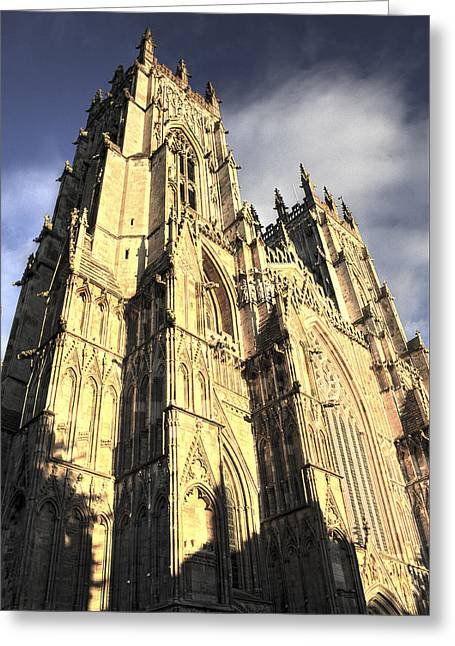 Greeting Card featuring the photograph York Minster  by Stewart Scott