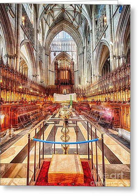 York Minster V Greeting Card by Jack Torcello