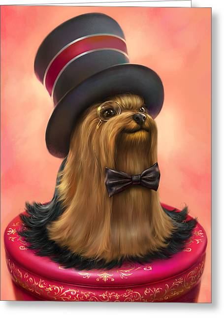 York The Gentledog Greeting Card