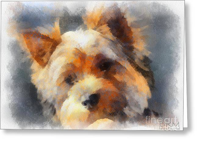 Yorkie Love Greeting Card