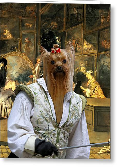Yorkshire Terrier Art - At The Artdealers Shop Greeting Card