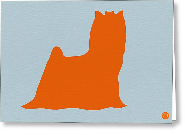 Yorkshire Terrier Orange Greeting Card by Naxart Studio