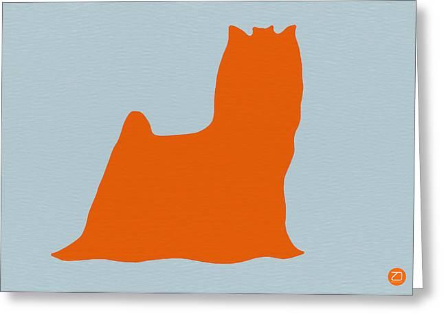 Yorkshire Terrier Orange Greeting Card