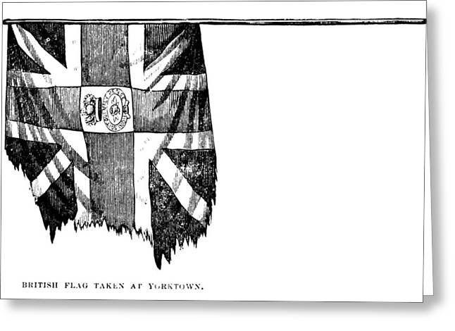 Yorktown: British Flag Greeting Card by Granger