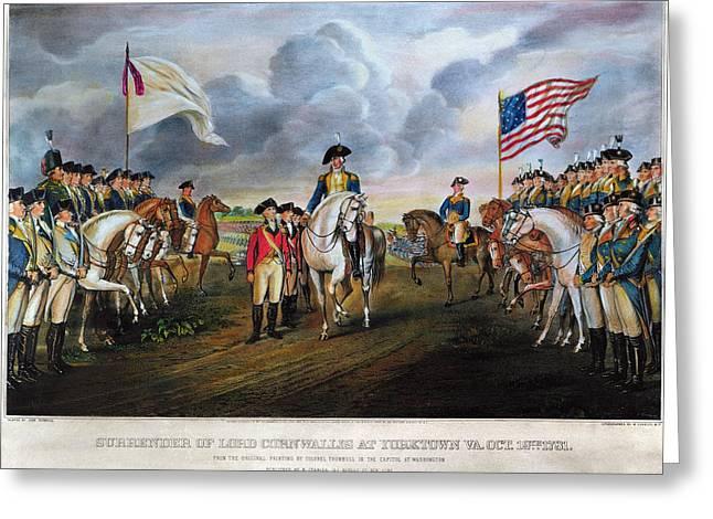 Yorktown: Surrender, 1781 Greeting Card by Granger