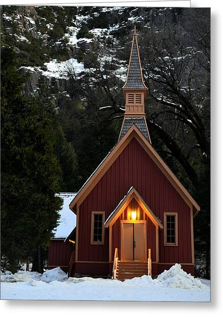 Yosemite Chapel Greeting Card