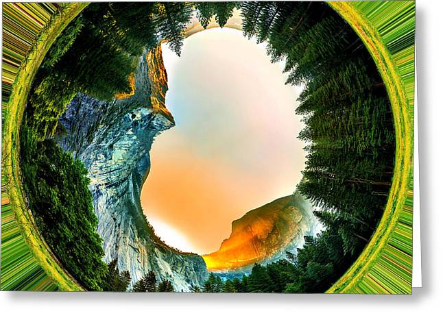 Yosemite Circagraph Greeting Card