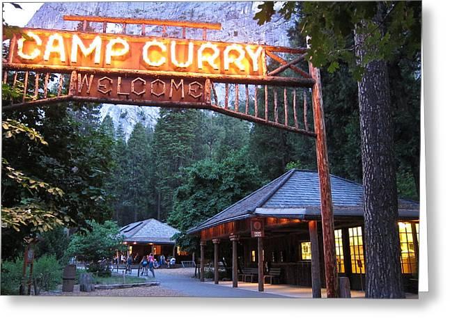Yosemite Curry Village Greeting Card
