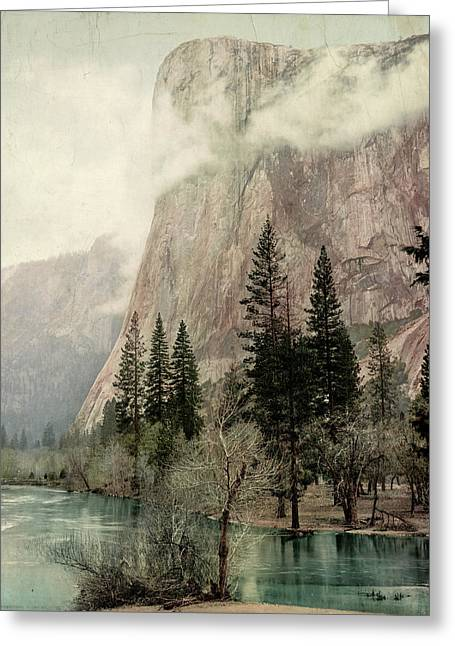 Yosemite El Capitan, C1899 Greeting Card