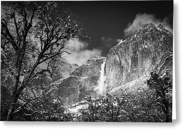 Yosemite Falls After A Winter Storm Greeting Card
