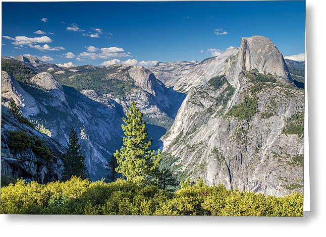Yosemite Half Dome From Glacier Point Greeting Card by Pierre Leclerc Photography