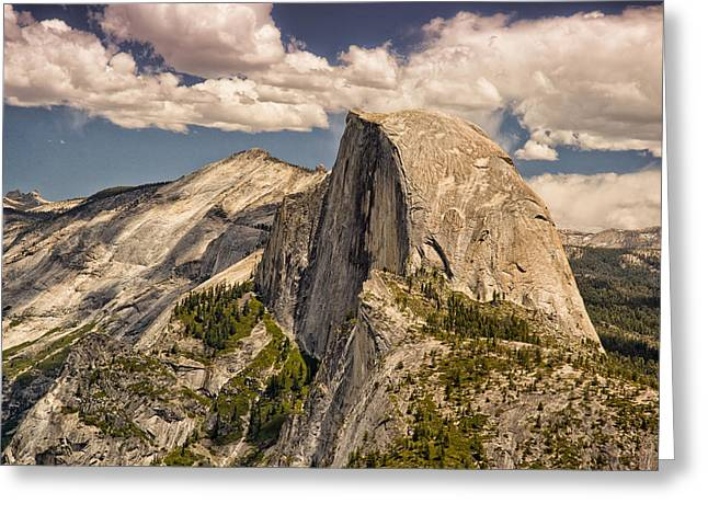 Greeting Card featuring the photograph Yosemite Half Dome by Janis Knight