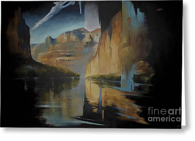 Yosemite Greeting Card by Lin Petershagen