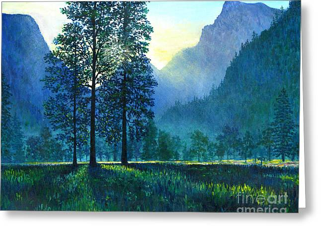 Yosemite Morning  Greeting Card by Lou Ann Bagnall