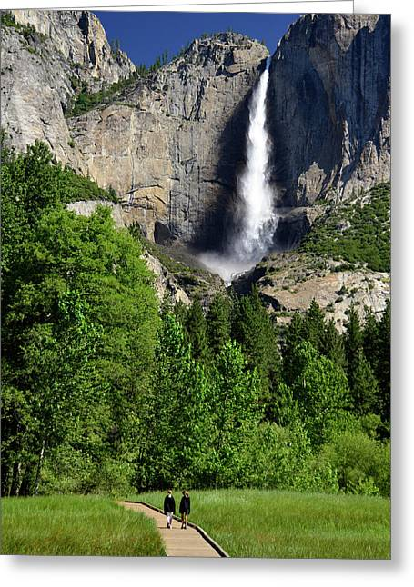 Yosemite National Park, Ca, Young Girls Greeting Card by Mark Williford