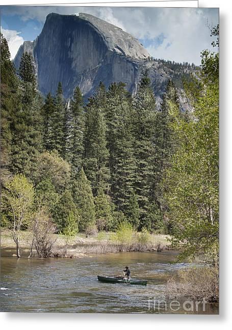 Yosemite National Park. Half Dome Greeting Card by Juli Scalzi