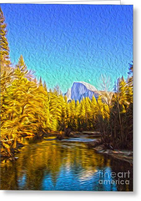 Yosemite Greeting Card by Nur Roy