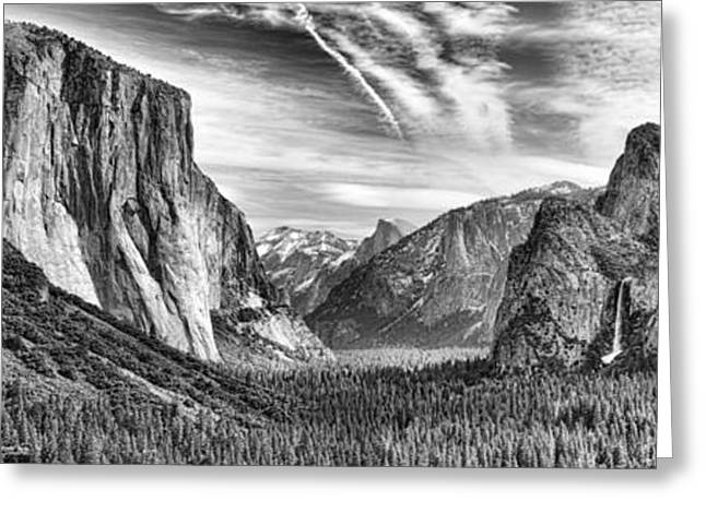 Yosemite Panoramic Greeting Card