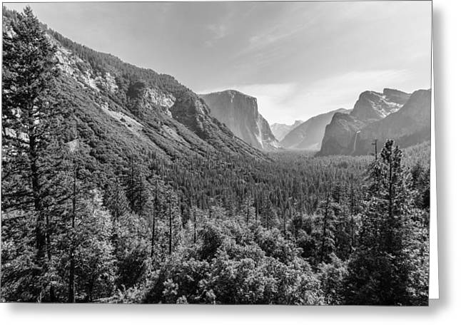 Greeting Card featuring the photograph Yosemite Tunnel View by Mike Evangelist