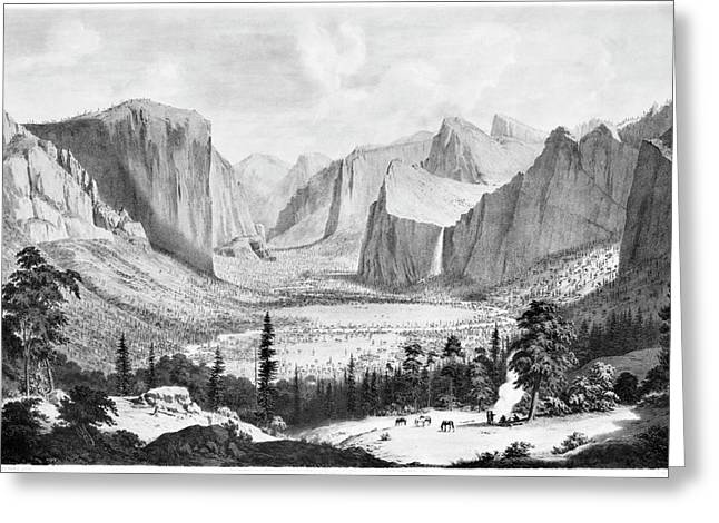 Yosemite Valley, 1855 Greeting Card by Granger
