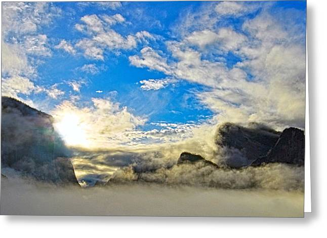 Yosemite Valley As Heaven Greeting Card