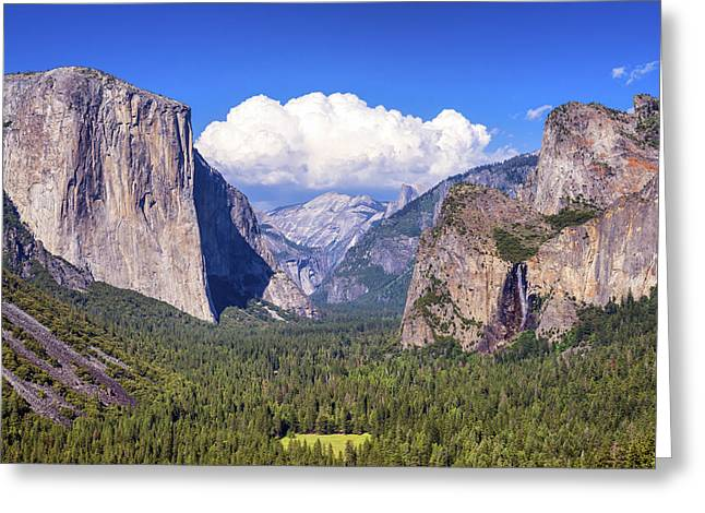 Yosemite Valley Beauty Greeting Card by Joseph S Giacalone