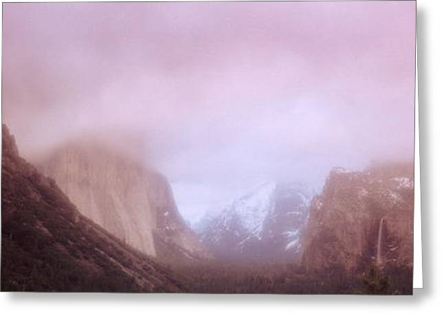 Yosemite Valley Ca Usa Greeting Card by Panoramic Images